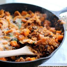 Butternut Squash and Black Bean Enchilada Skillet | Recipe | Bean ...