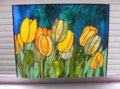 Spring Tulips - by CB's Stained Glass
