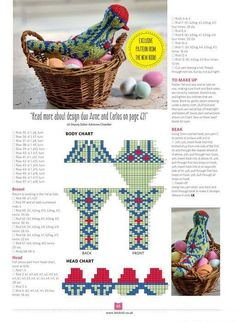 Let's Knit March 2017 - Arne & Carlos's Birds Knitting Books, Knitting Charts, Loom Knitting, Knitting Patterns Free, Free Knitting, Crochet Patterns, Knitted Dolls, Crochet Toys, Knit Crochet