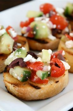 This Greek bruschetta recipe is an easy appetizer everyone will enjoy.