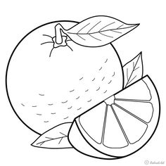 Fruit Coloring Pages, Animal Coloring Pages, Colouring Pages, Free Coloring, Coloring Books, Art Drawings For Kids, Drawing For Kids, Easy Drawings, Coloring Sheets For Kids