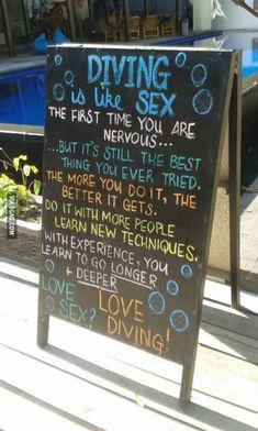 Good news for all virgins. Go diving!