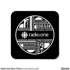 Radio One Show Titles Square Sticker
