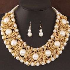 African Beads Party Jewelry Set
