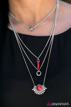 Its A Wonderful WILDLIFE - Red Necklace