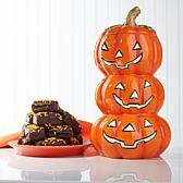 David's Cookies Jack-O-Lantern Jar with Enrobed Brownies
