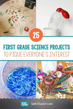 25 First Grade Science Projects to Pique Everyone's Interest. First grade science projects, activities, and experiments that are fun for everyone, and the hands-on learning can't be beat. Try these 25 on for size! #science #teachingscience #STEM #firstgrade #teaching
