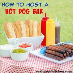 How to Host a Hot Dog Bar | realmomkitchen.com