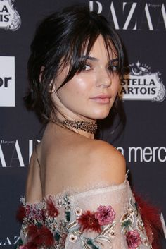 New fringe alert! Kendall Jenner's middle-parted low-key bangs were present at correct at the Harper's Bazaar party at New York Fashion Week