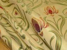 Art Nouveau Tiffany Soft Gold Designer Jacquard Curtain Upholstery Fabric