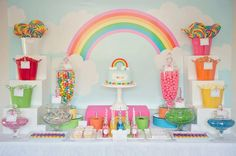 Festa com tema arco-írise - Foto: Pinterest