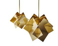 Les objets de désir Suspensions Prisme en laiton poli du collectif de designers français (Mydriaz)