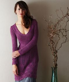 Free knitting pattern - Lace Dress in SMC Reflect: http://www.mcadirect.com/shop/smc-select-reflect-dk-p-4567.html