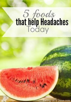 Did you know that there are foods that help headaches when they start? Try out these foods next time your head starts to pound