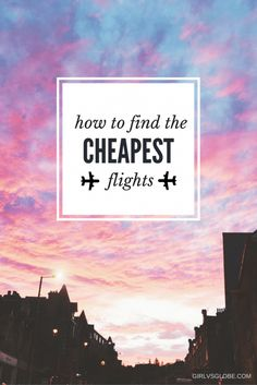 Ever wondered how to find the cheapest flights, helping you travel the world on a budget? Then look no further - this post has all the best tips and tricks on finding affordable airfare. Check it out to find out where to look, how to look and even when to look, detailing the best days of the week to purchase flight tickets...