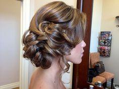 Rustic romantic wedding updo   Bridal Updo Half Bridesmaids Hair