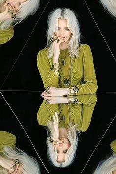 "Abbey Lee Kershaw for Mania Mania's new collection ""The Third Mind""  The creativity and kaleidoscopic imagery is so beautiful.."