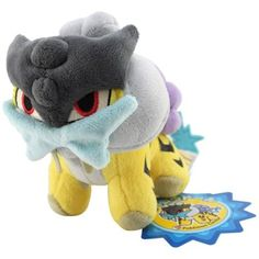 """Pokemon Poke Doll 6"""" Raikou Plush"""