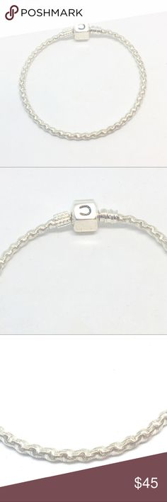 """Chamilia Twist Rope Charm Bracelet Authentic Chamilia 925 sterling silver rope twist charm bracelet. 7"""" bracelet. New condition. Stamped with """"CHAM 925 D"""" inside snap. Retails for $65. New boutique items may not have tags but are unworn. Chamilia Jewelry Bracelets"""