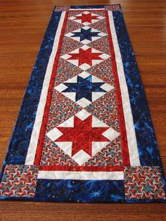 Quilted Table Runner - I can visualise that done in Red, Green and White - Wales here I come