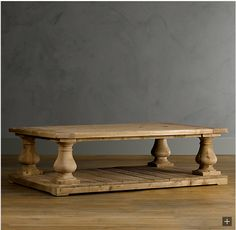 Decor Look Alikes | Save 1012.00 @ Coffee Tables Galore vs Restoration Hardware Balustrade Salvaged Wood Coffee Table
