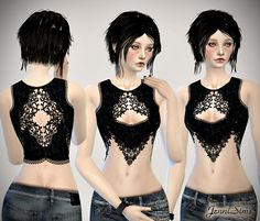 Jennisims: Downloads sims 4: Sets of Tops Heat Wave for the Sims 4