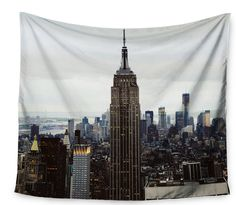 Kess InHouse Chelsea Victoria Night Lights Red Gold Urban Photography 68 x 80 Wall Tapestry