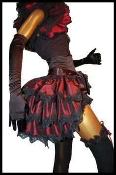 Burlesque Steampunk Tie On Bustle Skirt Shrug by lovechildboudoir, $75.00