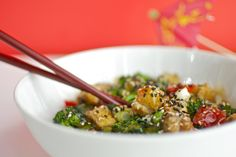 If saving money is a goal for 2012, think Vegan! This Vegan Sesame Tofu is both delicious and affordable.