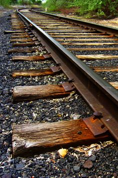 playing on the railroad tracks, placing pennies on the track and waiting for the train to go by and smash them.We had a train track/bridge in our back yard! By Train, Train Tracks, Diesel, Old Trains, Steam Locomotive, Railroad Tracks, Railroad Ties, Train Station, Belle Photo