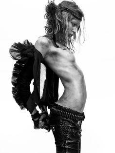 Publication: Vogue Paris March 2010 Model: Iselin Steiro Photographer: David Sims Fashion Editor: Emmanuelle Alt Hair: Paul Hanlon Make-up: Lisa Butler