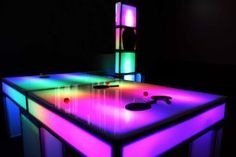 Our LED Ping Pong Table has translucent panels which allows the game to glow in a wide spectrum of colors when used with our LED Lighting.