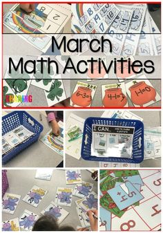 St. Patrick Math Activities for your Kindergarten and First Grade Classrooms - Sharing Kindergarten