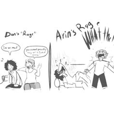Dan's rage compared to Arin's... xD