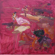 La música callada del toreo, 2012 óleo sobre tela 55 x 55 cm.