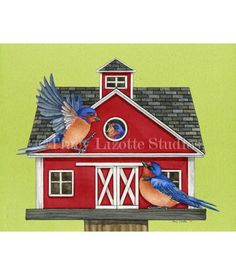 This watercolor painting of Farmhouse Living by TracyLizotteStudios.com is available at: http://tracylizottestudios.com/index.php/shop/prints/product/271-farmhouse-living