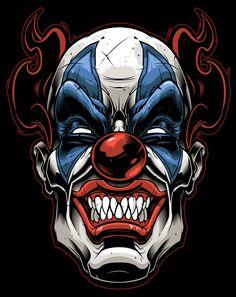 Vector clown-vector illustration-tribal gear-sweyda-scary clown.jpg