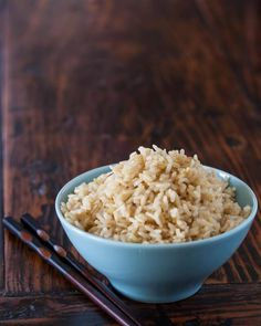 How to Cook Brown Rice in the Microwave ~ http://steamykitchen.com