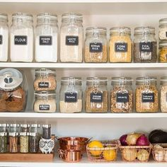 DIY Organizing Ideas for Kitchen - Pantry Organization For The New Year - Cheap and Easy Ways to Get Your Kitchen Organized - Dollar Tree Crafts, Space Saving Ideas - Pantry, Spice Rack, Drawers and Shelving - Home Decor Projects for Men and Women Kitchen Cabinet Organization, Pantry Storage, Food Storage, Pantry Shelving, Wire Shelving, Small Storage, Kitchen Storage, Shelves, Easy Home Decor