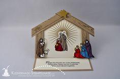 Stampin Up Bernau Berlin Weihnachten Krippe Heilige Familie Gesegnete Weihnachten Easlecard 01