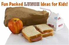 10 Fun Packed Lunch Ideas for Kids!  TheFrugalGirls.com Make a whole loaf of bread into sandwiches (PB usually) and freeze them individually bagged/wrapped. Easy to grab to pack in lunches and stays frozen just long enough to stay cold and be ready to eat at lunchtime.