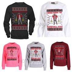 New Men's Women's Ladies Unisex Sleigh Bell Rings Christmas Printed Sweatshirt #GN #Jumpers