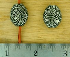 Green Girl Swirly Pebble Bead
