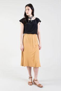 Seamwork Style | Seneca skirt + Akita blouse