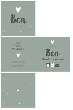 Ben Geboortekaartje hartjes early dew Baby Boy Rooms, Baby Room, Price Tag Design, Baby Essentials, Business Branding, Baby Cards, Wedding Cards, Birthday Cards, Stationery