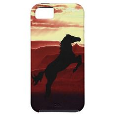 A rearing horse silhouette iPhone 4s 5s 6s case