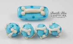 Boney Bead Set BBL Handmade Lampwork Glass Beads