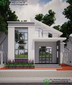 Modern home design Small Modern House Plans, Modern Small House Design, Simple House Design, House Front Design, Minimalist House Design, Village House Design, Village Houses, Modern Bungalow House, Casas The Sims 4
