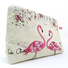 Stylish, yet practical - our Pink Flamingo Wash/Clutch Bag from jacquijoseph.com