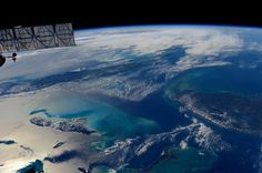 #Bahamas looking back at the sunglint in the rear view mirror…